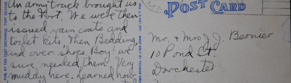 Dad's first correspondence…March 1943