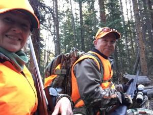 Hunting day 1, morning break. Still feeling pumped!