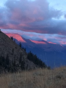 Dawn in the Rocky Mountains, hunting day 2 up Weston Pass.