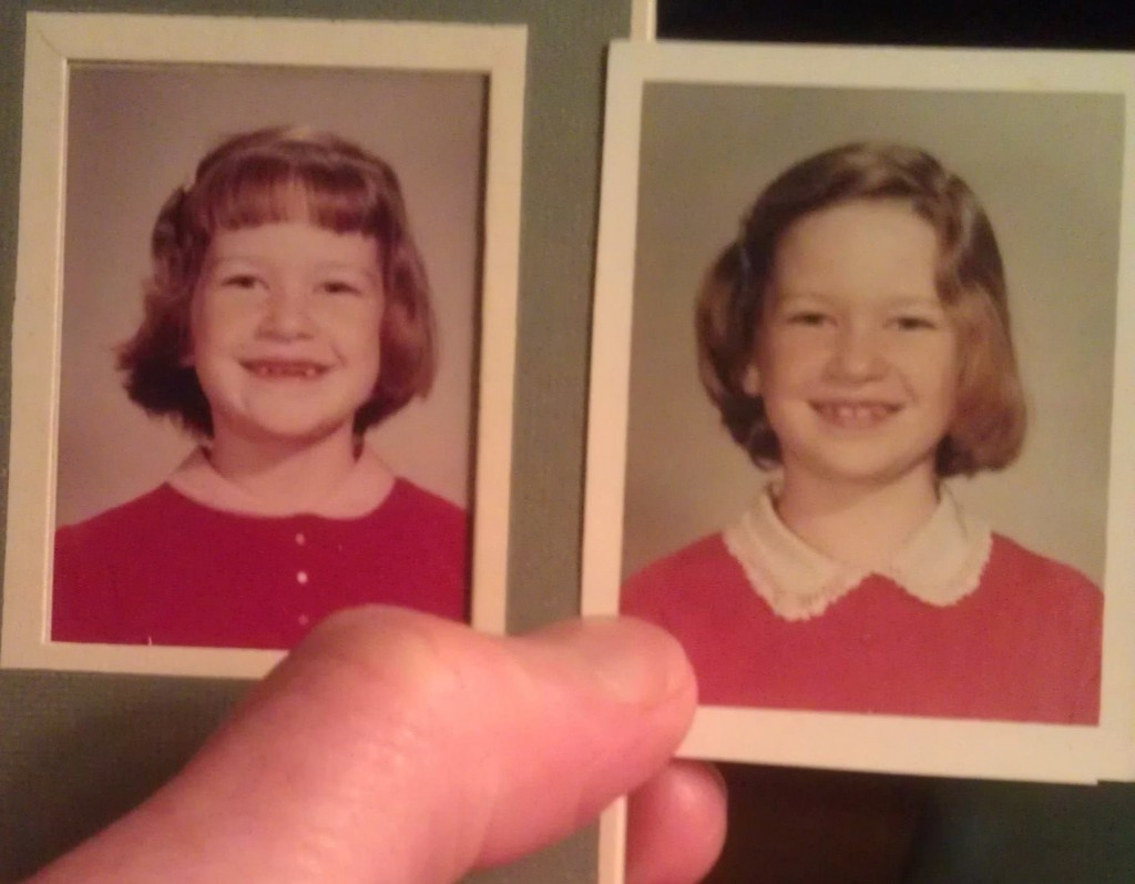 School photos...my hair never got much longer than this.