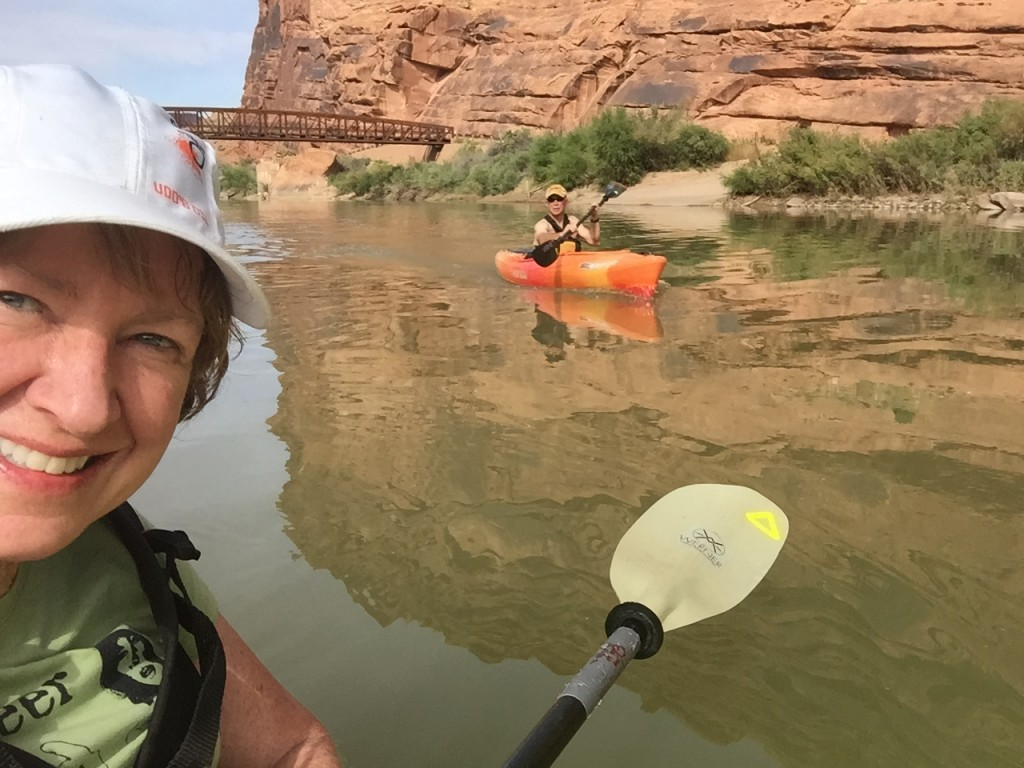 Beautiful day on the Colorado River in Moab
