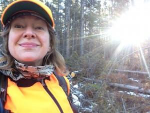 Hunting sun selfie