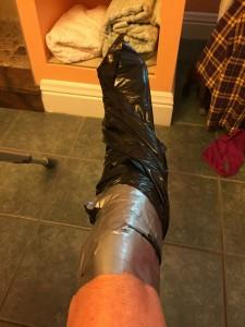 Faux duct tape wrap