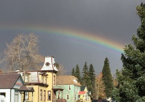 Rainbow over Leadville. End of hunting day 2.
