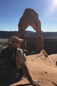 Mike at Delicate Arch